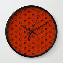 Halloween Skulls Wall Clock