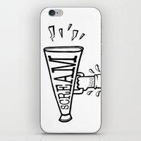 scream iPhone & iPod Skins featuring SCREAM by Andrea Vietti