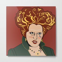 SAD GIRLS CLUB MEMBER WINIFRED SANDERSON Metal Print