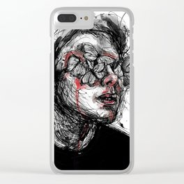 Deep wounds Clear iPhone Case