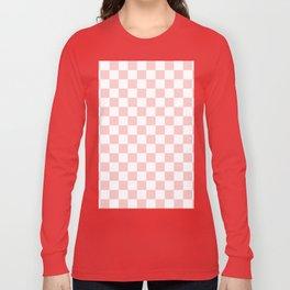 Gingham Pink Blush Rose Quartz Checked Pattern Long Sleeve T-shirt