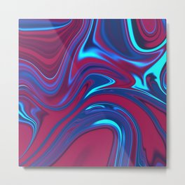 Abstract Fluid 2 Metal Print