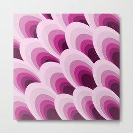Pink Feathers Metal Print