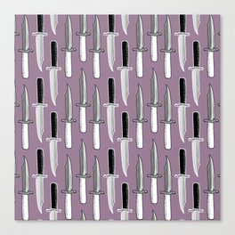 Double Knives in Mauve Canvas Print