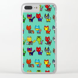 Avenging Cats Clear iPhone Case