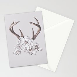 antler and magnolia Stationery Cards