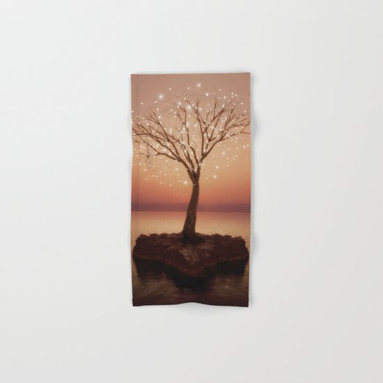 The Strong Grows In Solitude (Tree of Solitude) Hand & Bath Towel