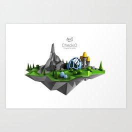 CheckiO island Art Print