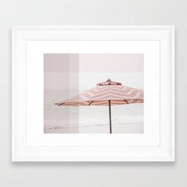 Beach Umbrella I Framed Art Print