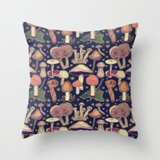 Much room for mushrooms Throw Pillow