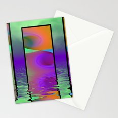 fractal triptych -2- Stationery Cards