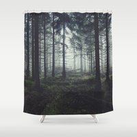trees Shower Curtains featuring Through The Trees by Tordis Kayma