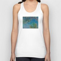 monet Tank Tops featuring Claude Monet Wisteria by Elegant Chaos Gallery