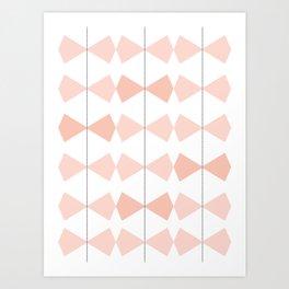 Pretty Bows All In A Row Art Print