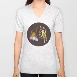 Macarons Unisex V-Neck