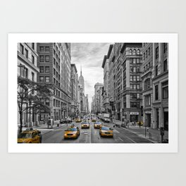 5th Avenue NYC Traffic Art Print