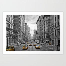 5th Avenue NYC Traffic Art Print