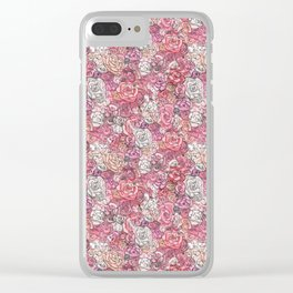 Rose Wall Clear iPhone Case