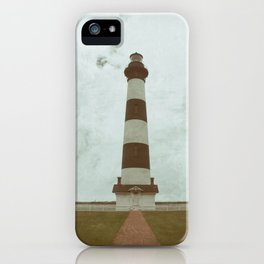 Bodie Lighthouse Glass Plate Effects Coastal Landscape Photograph iPhone Case