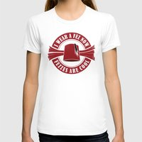 fez T-shirts featuring Fezzes are cool-Doctor Who by Fanny Öqvist Westerberg