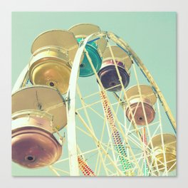 Pastel Ferris Wheel Canvas Print