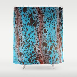 Robin Egg Shell Water Marbling Shower Curtain