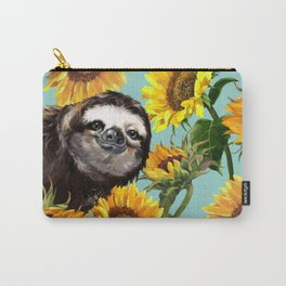 Sloth with Sunflowers Carry-All Pouch