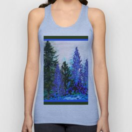 BLUE-GREEN MOUNTAIN FOREST LANDSCAPE Unisex Tank Top