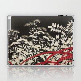 Kuro-tomesode with a Pair of Pheasants in Hiding (Japan, untouched kimono detail) Laptop & iPad Skin