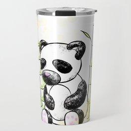 Digital Charcoal Panda (with golden lights) Travel Mug