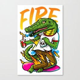 El lagarto Canvas Print