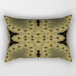Goldblack Fractal Pattern Rectangular Pillow