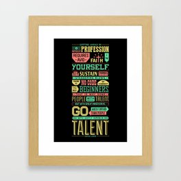Lab No. 4 Getting Ahead Sophia Loren Motivational Quotes Framed Art Print
