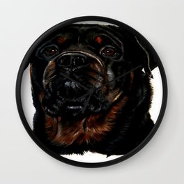 Male Rottweiler Wall Clock