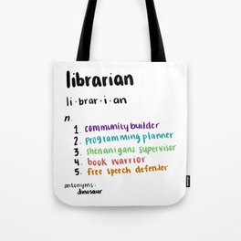Librarian Definition Tote Bag