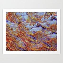 Icy Water Art Print