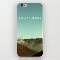 explore things iPhone & iPod Skin