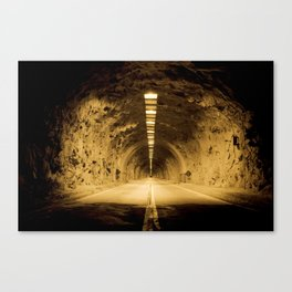 Late Hike Through Yosemite Tunnel Canvas Print