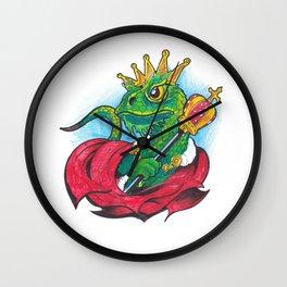 Funny drawing - Lizard King Wall Clock