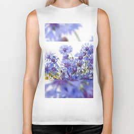 Cornflower and chamomile many flowers Biker Tank