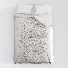 Life's book story blooming  Comforters