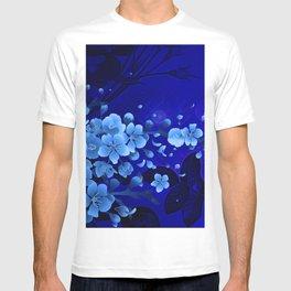 Cherry blossom, blue colors T-shirt