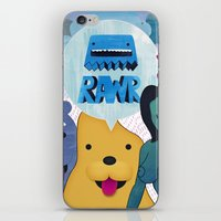 returns iPhone & iPod Skins featuring Rawr Returns! by mrbiscuit