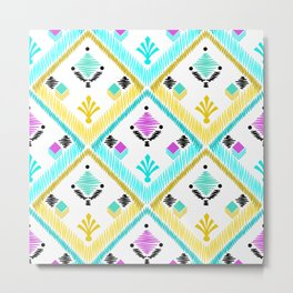 Abstract ethnic ornament. Metal Print