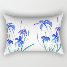 blue day lily Rectangular Pillow