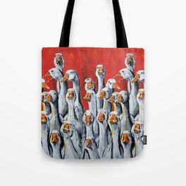 A Giggle Gaggle of Geese Tote Bag