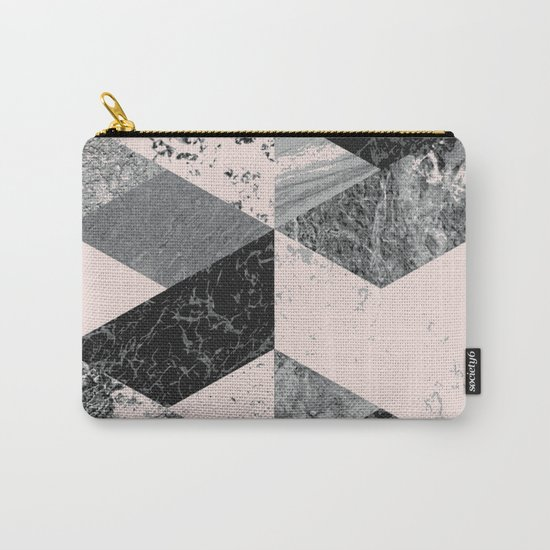 Geometric modern abstract wall art print Carry-All Pouch