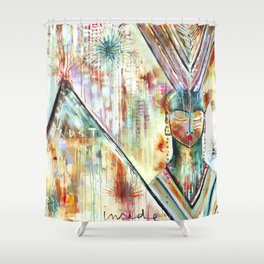 """Trust Inside"" Original Painting by Flora Bowley Shower Curtain"