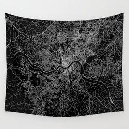 Cincinnati map Wall Tapestry