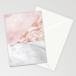 Mixed pinks rose gold marble Stationery Cards